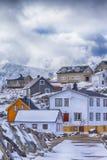 Концепции путешествовать через острова Lofoten Линия Trad стоковые фотографии rf