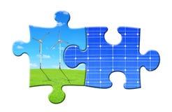 Концепции энергии от головоломки Стоковое Изображение RF