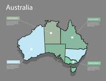 Концепция Австралии карты Стоковое Фото