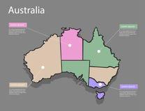 Концепция Австралии карты Стоковые Фото