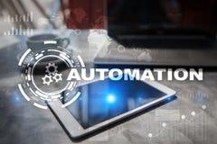 Концепция автоматизации как нововведение, улучшая урожайность, надежность в технологии и бизнес-процессы стоковое изображение rf