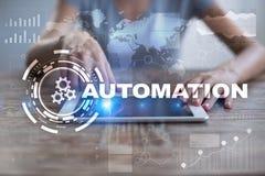Концепция автоматизации как нововведение, улучшая урожайность, надежность в технологии и бизнес-процессы стоковые фотографии rf