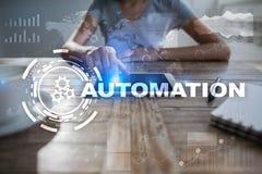 Концепция автоматизации как нововведение, улучшая урожайность, надежность в технологии и бизнес-процессы стоковая фотография