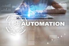 Концепция автоматизации как нововведение, улучшая урожайность, надежность в технологии и бизнес-процессы стоковые фото