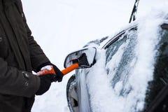 Концепция автомобиля, зимы, людей и корабля Стоковые Изображения RF
