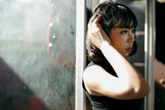 Концепция азиатской девушки стиля этничности милой милой женская молодая стоковые изображения rf