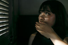 Концепция азиатской девушки стиля этничности милой милой женская молодая стоковые фото