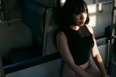 Концепция азиатской девушки стиля этничности милой милой женская молодая стоковые изображения