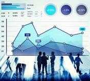 Концепция анализа успеха маркетинга дела роста финансов Стоковое фото RF