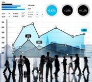 Концепция анализа успеха маркетинга дела роста финансов Стоковые Изображения