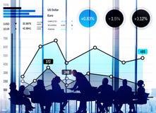 Концепция анализа успеха маркетинга дела роста финансов Стоковая Фотография