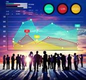 Концепция анализа успеха маркетинга дела роста финансов Стоковые Изображения RF