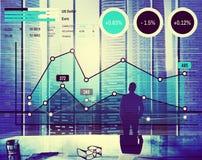 Концепция анализа успеха маркетинга дела роста финансов Стоковое Изображение