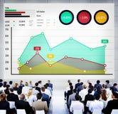 Концепция анализа успеха маркетинга дела роста финансов Стоковые Фото