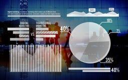 Концепция анализа финансового состояния фондовой биржи успеха роста диаграммы Стоковые Изображения RF