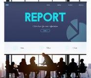 Концепция аналитика отчете о цели производительности стратегии стоковая фотография