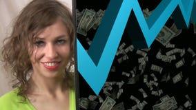 Концепция 2 анимации фондовой биржи видеоматериал