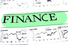 Концепция данным по финансов Стоковое Изображение RF