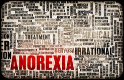 Концепция анорексии Стоковое фото RF