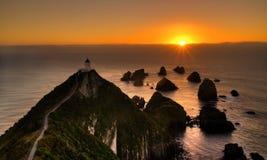 Концепция ландшафта Новой Зеландии маяка Стоковое Изображение RF