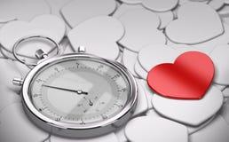 Концепция датировка скорости - влюбленность иллюстрация вектора
