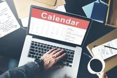 Концепция даты встречи назначения календаря стоковое изображение rf
