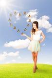 Концепция бабочек влюбленности Стоковое фото RF