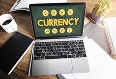Концепция банка значка экономики бухгалтерии валюты Стоковое Изображение RF