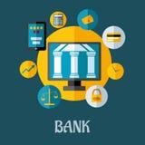 Концепция банка и вклада Стоковые Изображения