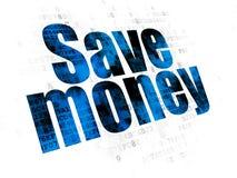 Концепция банка: Сохраньте деньги на предпосылке цифров Стоковое Изображение