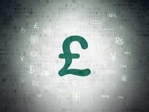 Концепция банка: Фунт на предпосылке бумаги цифровых данных иллюстрация штока