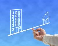 Концепция баланса дома и офиса Стоковая Фотография