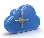 Концепция безопасного облака вычисляя Стоковые Фотографии RF