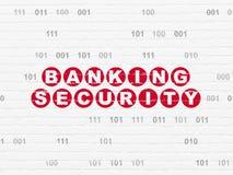 Концепция безопасности: Безопасность банка на предпосылке стены Стоковая Фотография RF