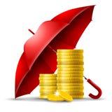 концепция безопасности денег иллюстрация вектора