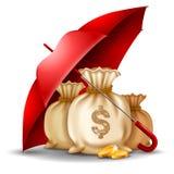 концепция безопасности денег иллюстрация штока