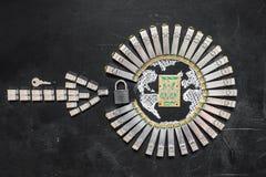 Концепция безопасности интернета/кодирования данных компьютера/повышения защиты данных/безопасности Стоковое Изображение RF