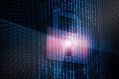 Концепция безопасности кибер Стоковое Изображение