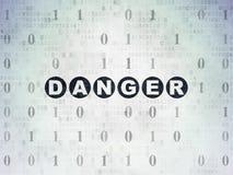 Концепция безопасности: Опасность на предпосылке бумаги цифровых данных иллюстрация вектора