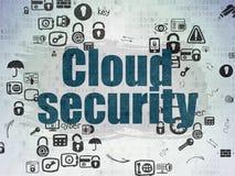 Концепция безопасностью: Безопасность облака на бумаге цифров стоковое фото rf