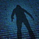 Концепция безопасностью интернета хакера бесплатная иллюстрация