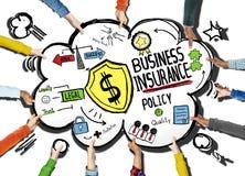 Концепция безопасностью политики деловой страховки иллюстрация вектора