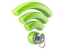 Концепция безопасностью WiFi Стоковое Изображение
