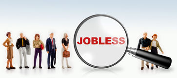 концепция безработного и работника Стоковое фото RF