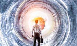 Концепция бизнесмена и космоса Стоковая Фотография RF