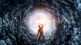 Концепция бизнесмена и космоса стоковые фото