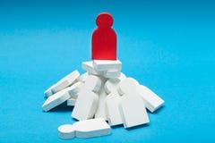 Концепция бизнес лидера, успешная стратегия Король стоковое изображение