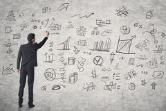 Концепция бизнес-плана стоковая фотография