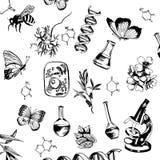 Концепция биологии комплект элементов на научных темах Стоковые Фотографии RF