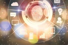 Концепция биометрии и будущего стоковое изображение rf